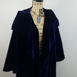 Plus Coat Velvet Lane Bryant Vintage Jewel Tone